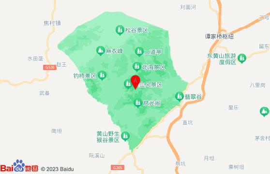 黄山风景区地图