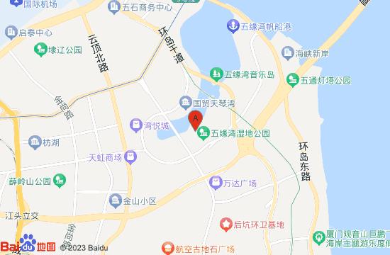 厦门五缘湾海水浴场地图