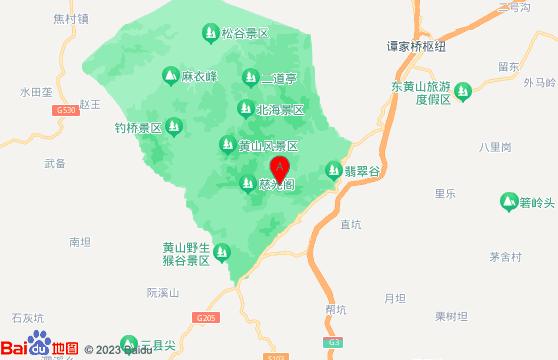黄山旅游团一日游-黄山景区地图