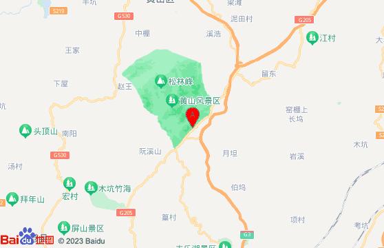 黄山宏村三日游景点:黄山风景区交通地图