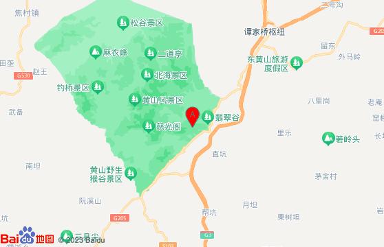 黄山三日游景点:黄山风景区地图