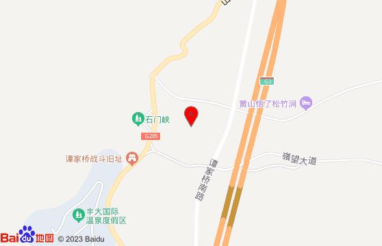 黄山旅游景点-黄山石门峡交通地图