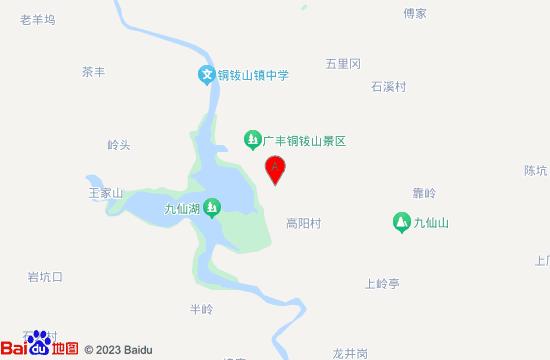 广丰铜钹山鹊桥谷地图