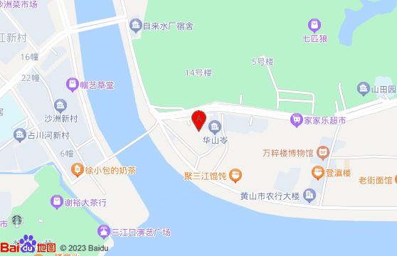 屯溪老街-黄山旅游团三日游地图
