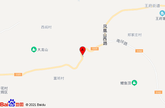青州王府溪谷漂流地图