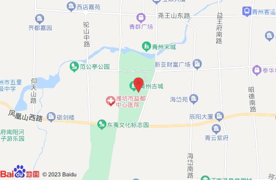 青州古城旅游区地图