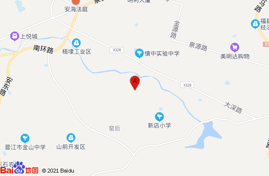 晋江道田休闲生态园地图