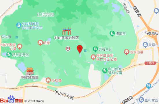 南京紫金山探险公园地图