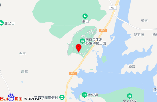 南京金牛湖野生动物王国地图