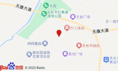 天长大地影院天发广场店周边地图