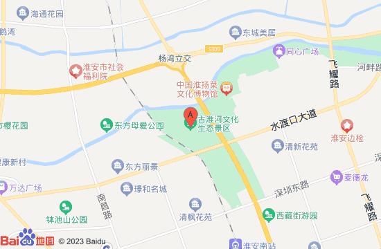 淮安古淮河戏雪乐园地图