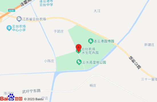 连云港云水湾湿地公园地图