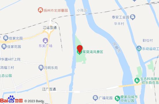 扬州茱萸湾风景区地图
