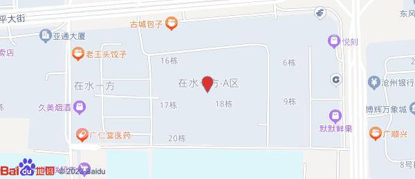 在水一方小区地图