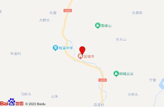武义延福寺地图