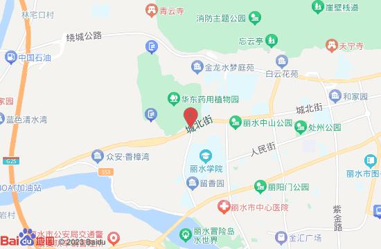 华东药用植物园(丽水植物园)地图