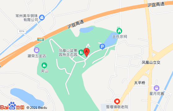 常州龙凤谷玻璃桥地图