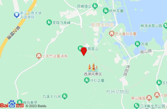 杭州鸡笼山地图