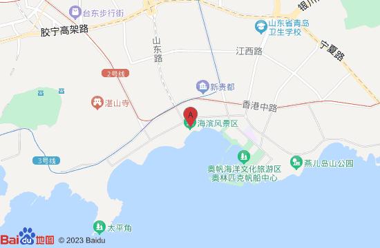 青岛海滨风景区地图