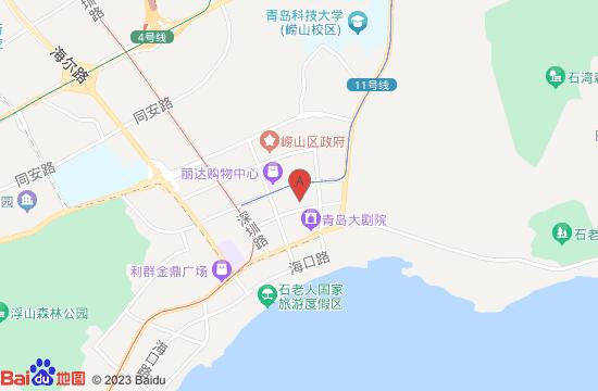 青岛市博物馆地图