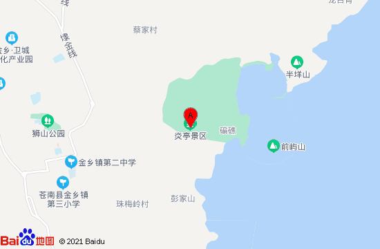 苍南炎亭景区地图