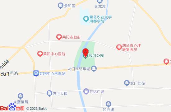 莱阳蚬河公园地图