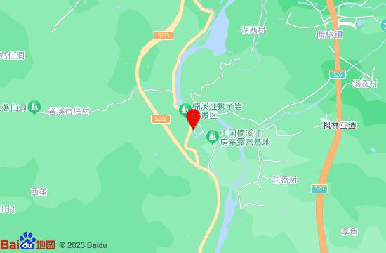 楠溪江桃花源码头漂流地图