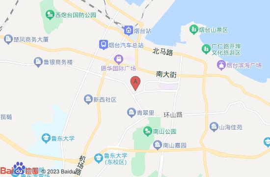 烟台毓璜顶公园地图