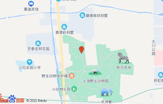 上海野生动物园旅游景点介绍 动物园地图