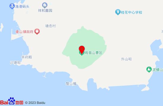 岱山衢山岛观音山地图