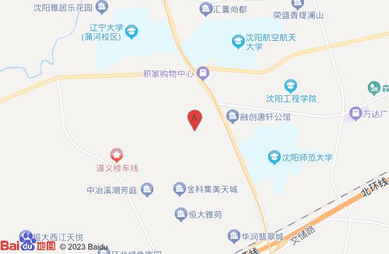 沈阳新境界星空艺术馆地图