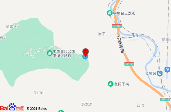 本溪南芬大峡谷地图