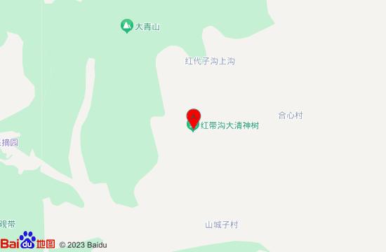 铁岭红带沟大清神树地图