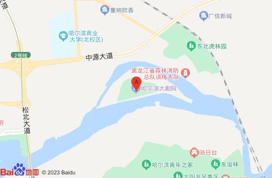 哈尔滨大剧院地图