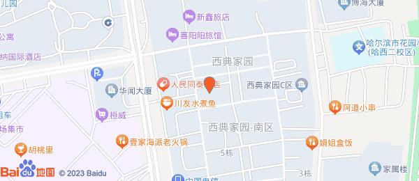 西典家园小区地图