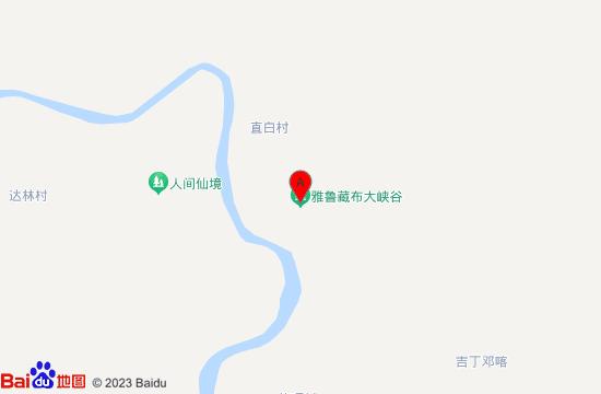 雅鲁藏布大峡谷地图