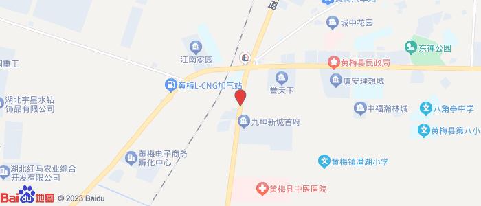 湖北省黄梅县城地图