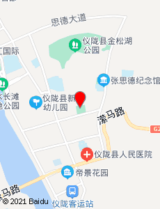 仪陇旅游地图