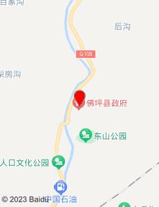佛坪旅游地图