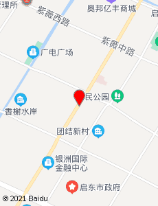启东旅游地图