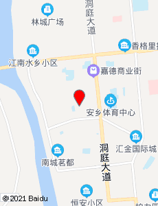 安乡旅游地图