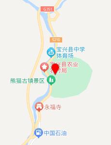 宝兴旅游地图