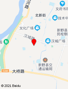 新野旅游地图