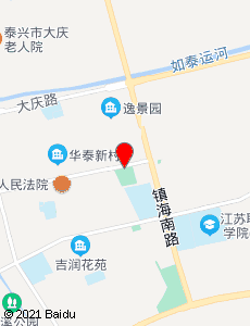 泰兴旅游地图
