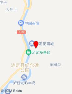 泸定旅游地图