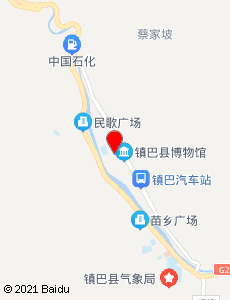 镇巴旅游地图