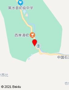 黑水旅游地图