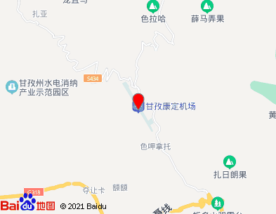 康定机场位置