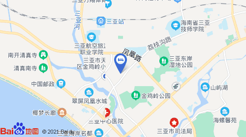 三亚凤凰机场约10km 三亚火车站约2km
