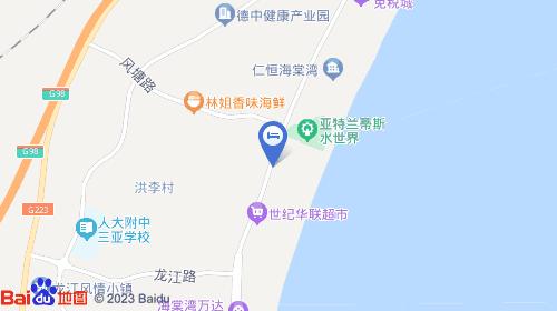 三亚凤凰机场约35km 三亚火车站约27km